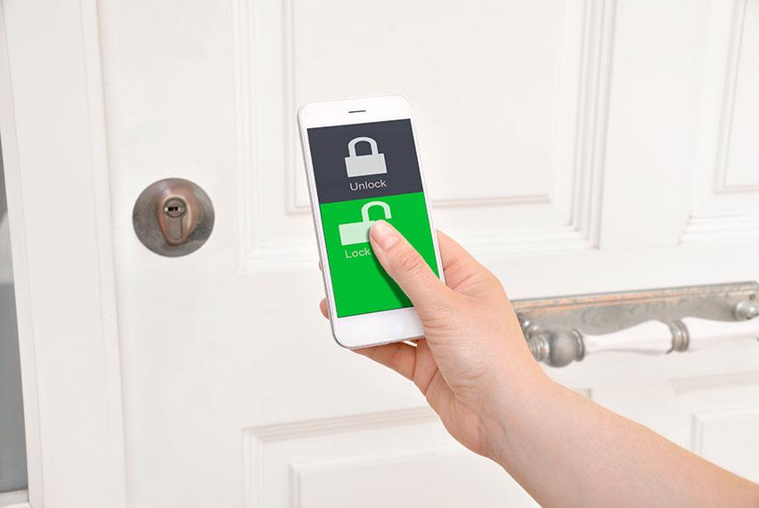 remote door locking
