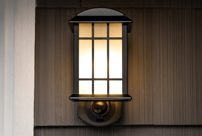 wall lantern security camera