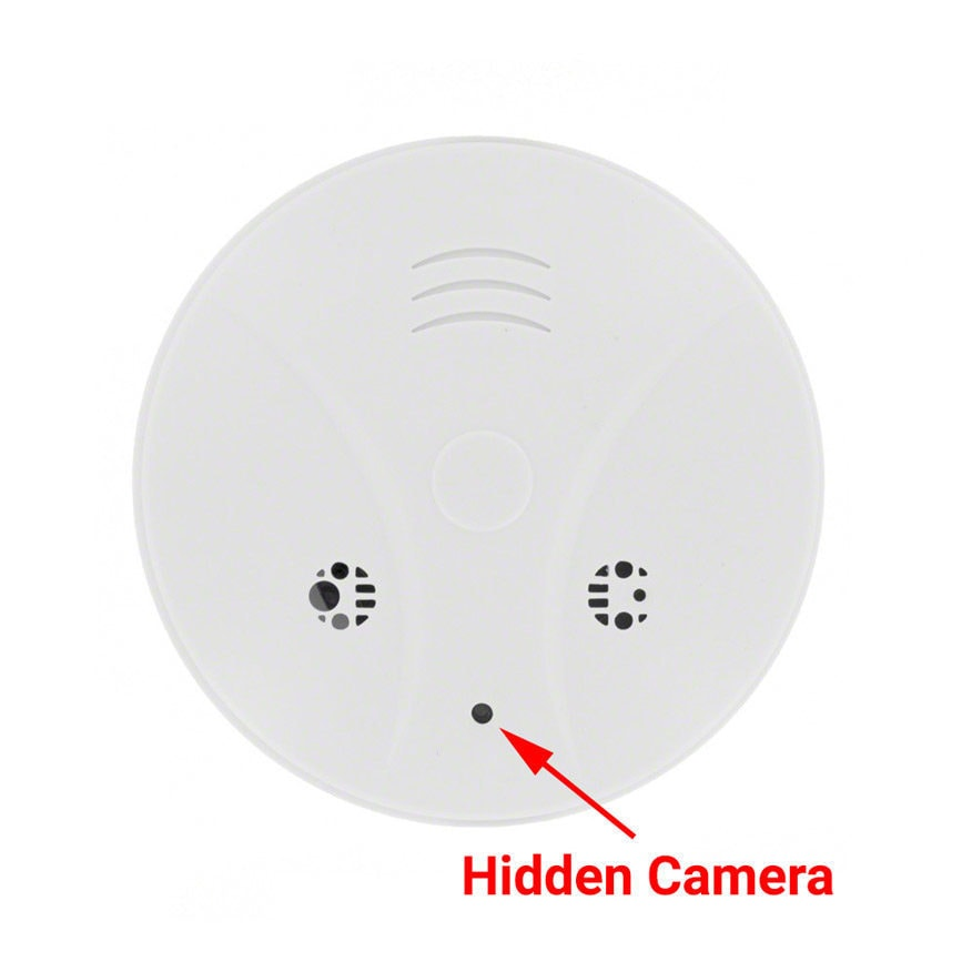 smoke detector with hidden camera