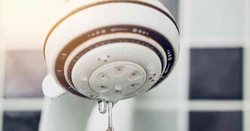 leaking showerhead