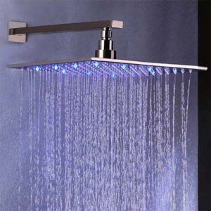 "Dree 12"" Wall Mount LED Rain Showerhead"
